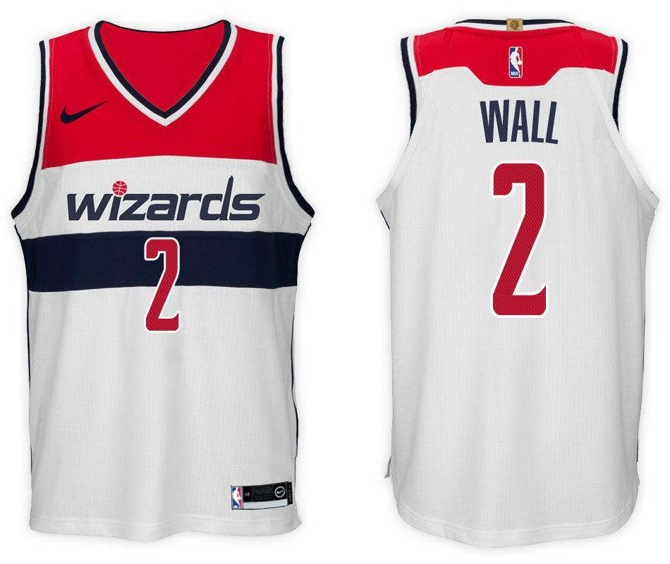 d1cea7da14a7 Nike NBA Washington Wizards  2 John Wall Jersey 2017 18 New Season White  Jersey