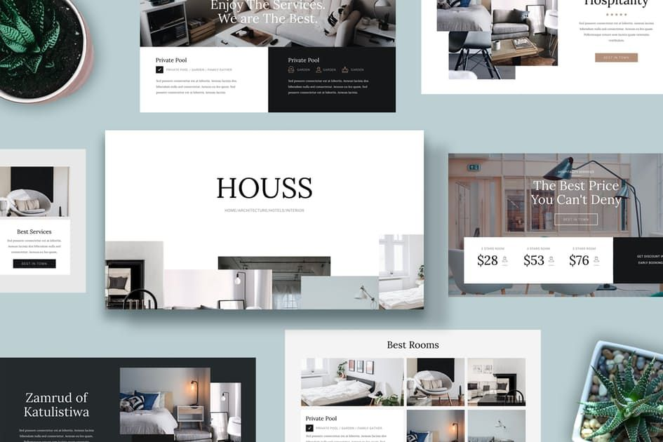 Download HOUSS - Keynote Template Presentation Templates by