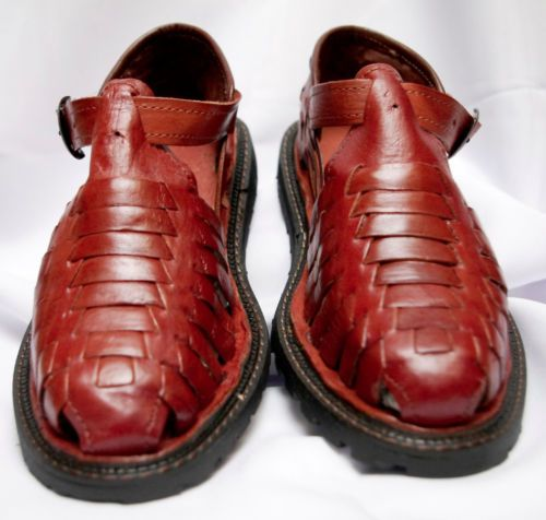 86f9d1b7fe9c1 Mens Shoe Mexican Sandal Closed Toe Huarache New in Box