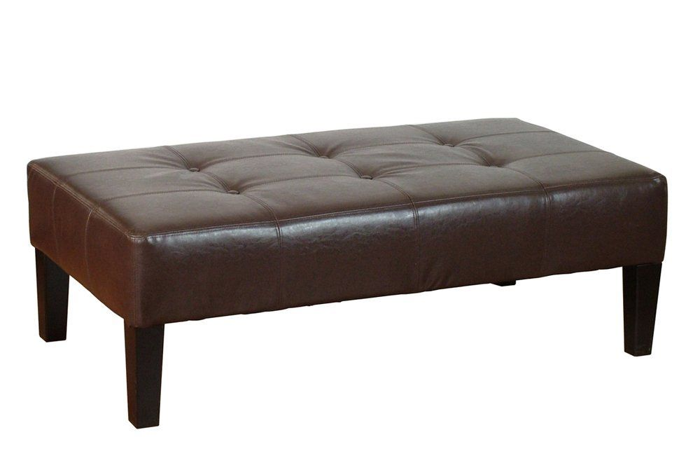 Leather Ottoman Coffee Table | interior design | Pinterest