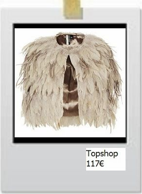 Short jacket made of feathers by Topshop
