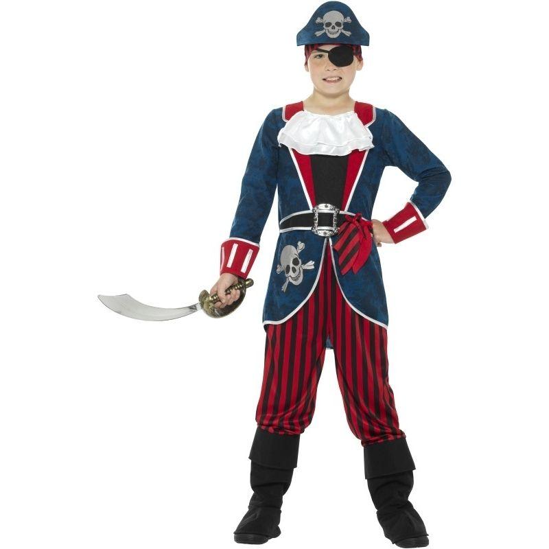 Fun childs Pirate Costume -small large medium trousers,top,bandana and belt