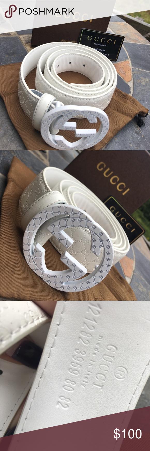 Gucci Belt All White