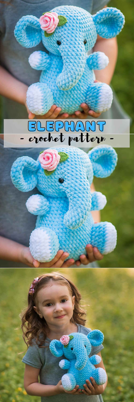 CROCHET PATTERN Elephant / Crochet pattern Elephant / | Etsy