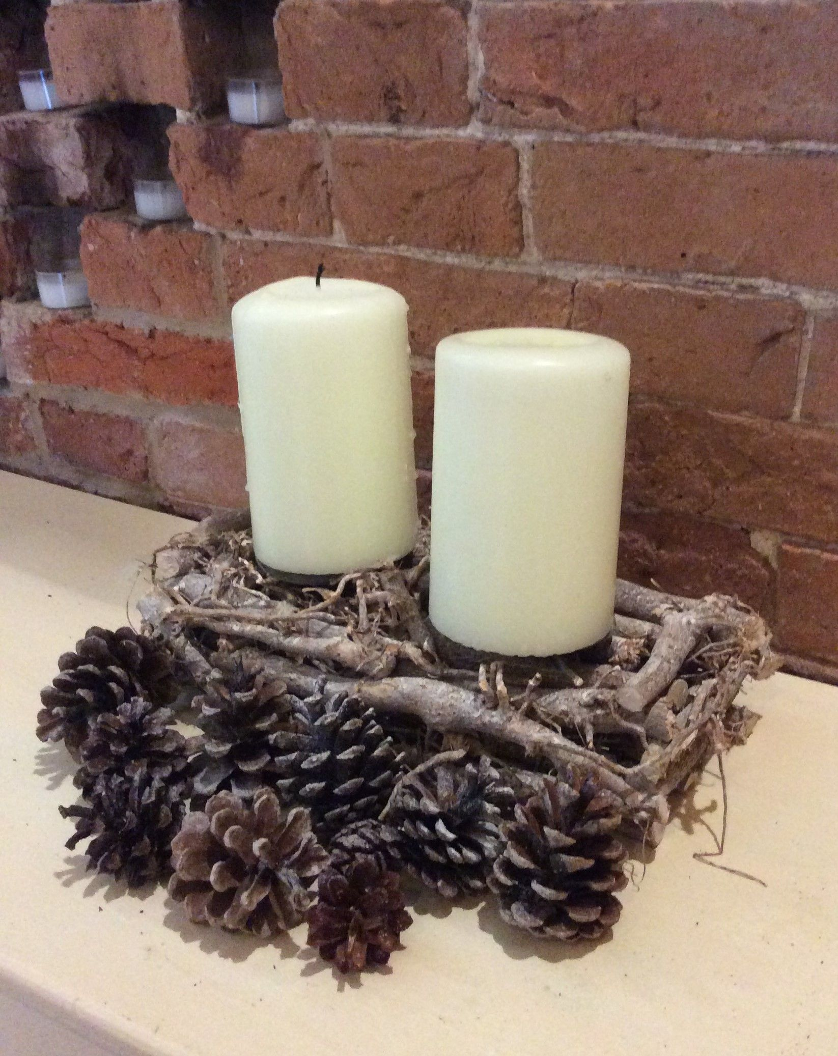 Winter Themed Radiator Decor To Tie The Styling Together Www Beautifulvenuedecor Co Uk Christmas Centerpieces Pillar Candles Winter Theme