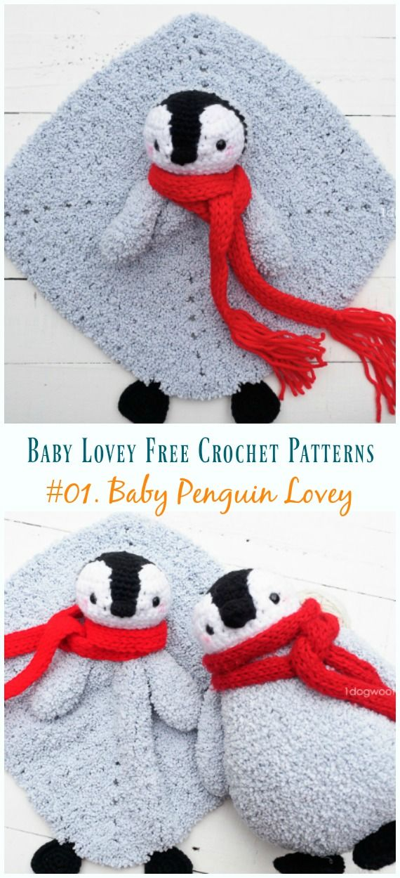 Crochet Baby Penguin Amigurumi Free Pattern #securityblankets