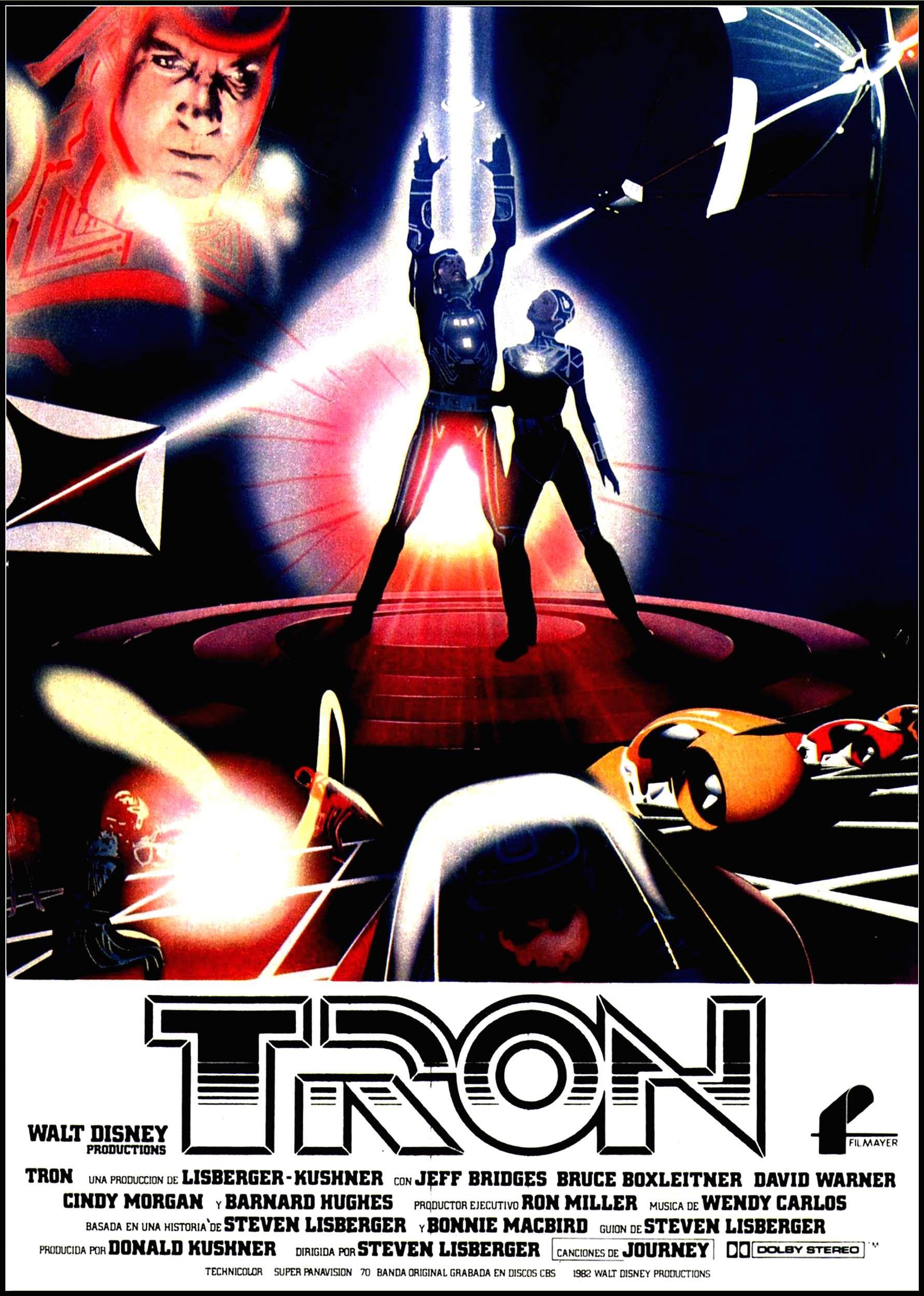 Tron 1982 Poster Tron Carteles De Películas Famosas Afiche De Pelicula