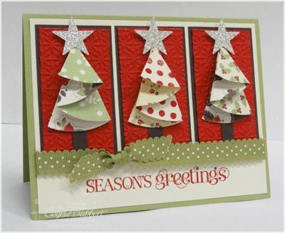 Fantabulous Cricut Challenge Blog: Thursday Tutorial and only 25 days till Christmas-Folded tree card