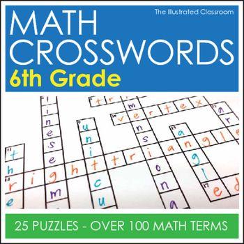 Math Worksheets - 6th Grade Math Vocabulary Crossword Puzzles Math - copy blueprint detail in short crossword clue