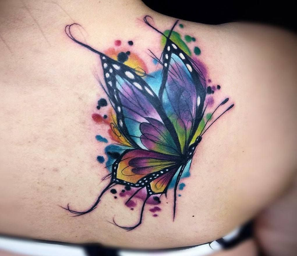 Photo Butterfly Tattoo By Vinni Mattos Photo 23022 Butterfly Tattoo Cover Up Butterfly Tattoo Designs Watercolor Butterfly Tattoo Butterfly tattoo wallpaper download