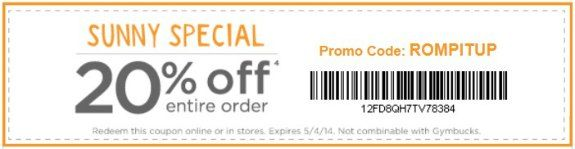 photograph about Gymboree Coupon Printable identify Gymboree Coupon Code 20% Off Finish Get Through 5-4