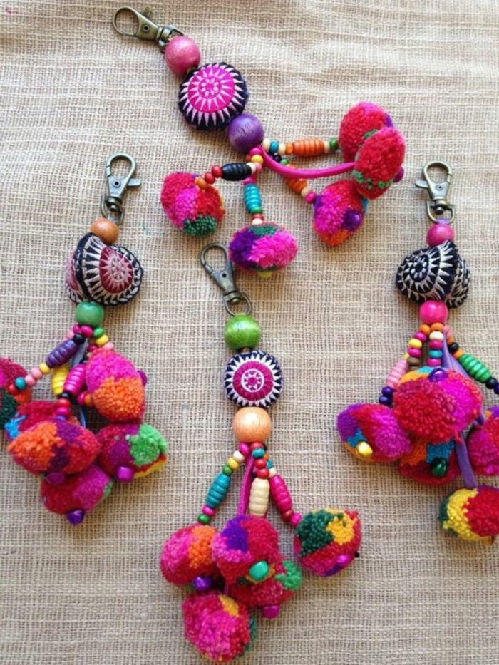 Comment faire un pompon guide et applications exceptionnelles ramadan fabric beads fabric - Fabriquer un porte cle ...