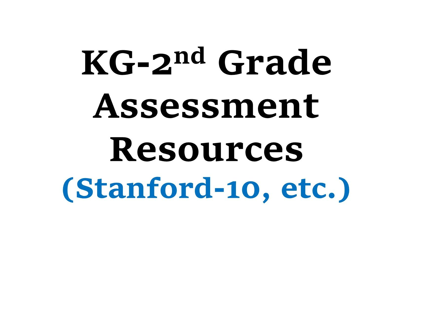 Click here to download test/assessment resources such as SAT-10 ...