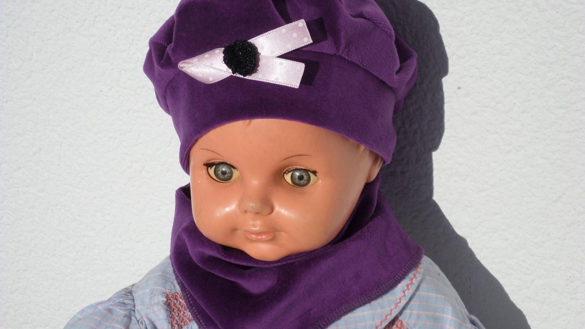 Bonnet béret chapeau snood écharpe bébé   fille  lin eva kids ... d292d940a3d