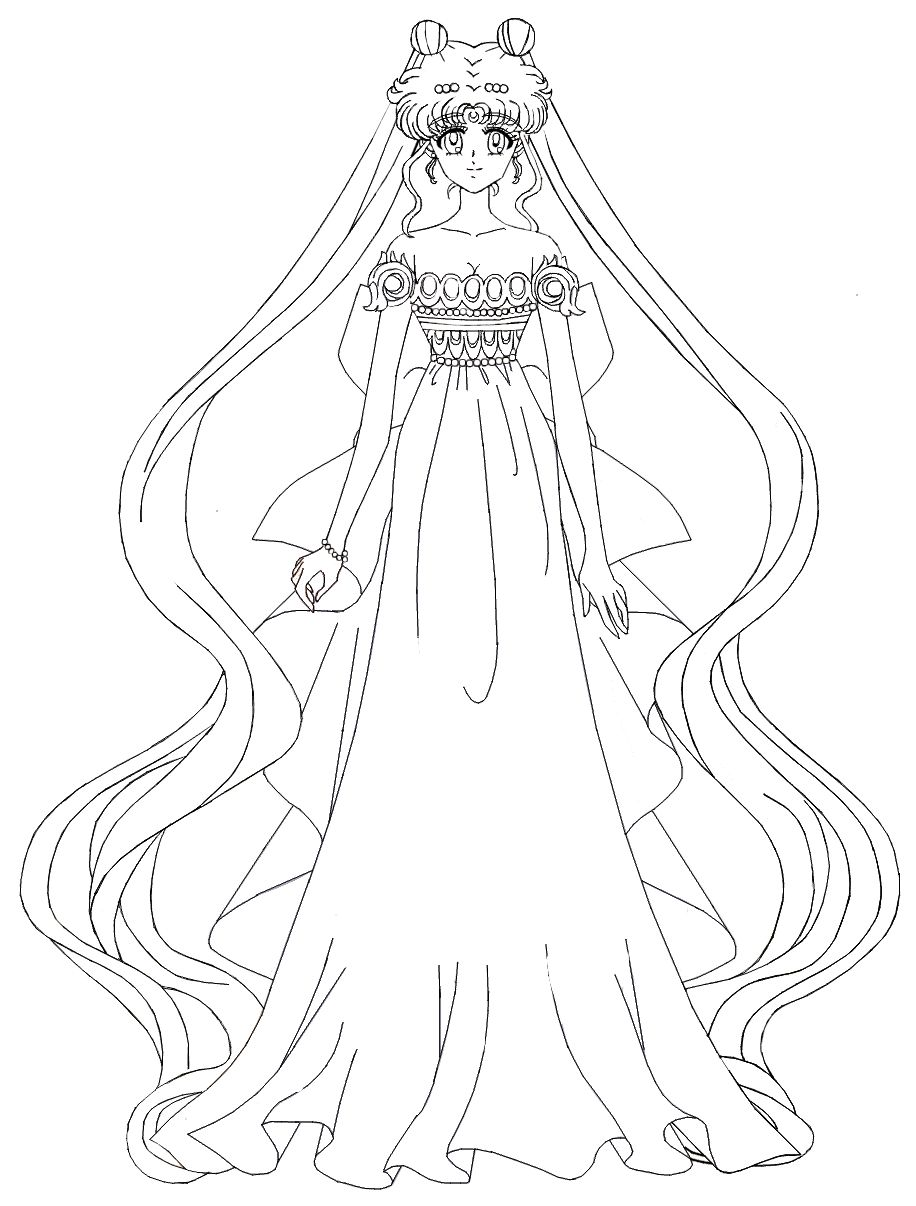 Princess Serenity Coloring Pages : Sailor moon crystal princess serenity by misslily on