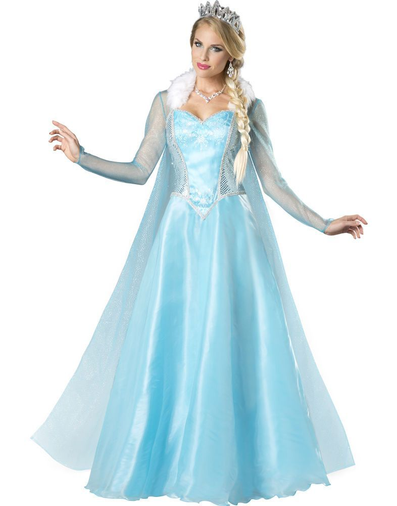 Adult Blue Princess Costume For Ladie/'s Cosplay Party Fancy Dress Costumes