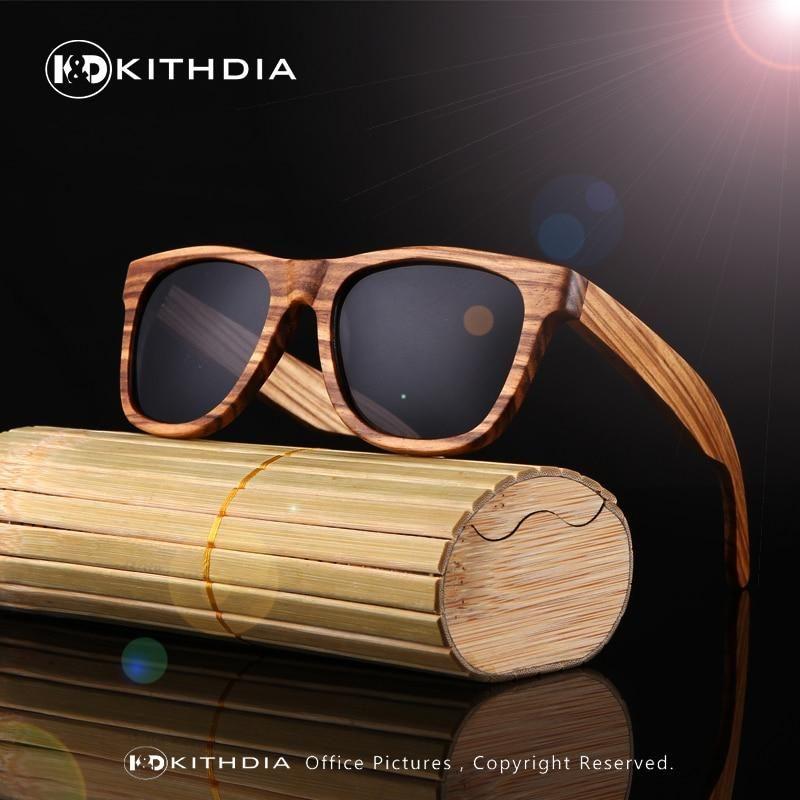 34145a2db78 KITHDIA New 100% Real Zebra Wood Sunglasses Polarized Handmade Bamboo Mens Sunglass  Sun glasses Men Gafas Oculos De Sol Madera