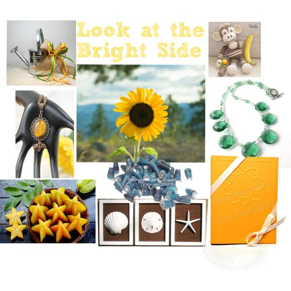 Look at the Bright Side by omearascottagecharm on Polyvore featuring polyvore and art