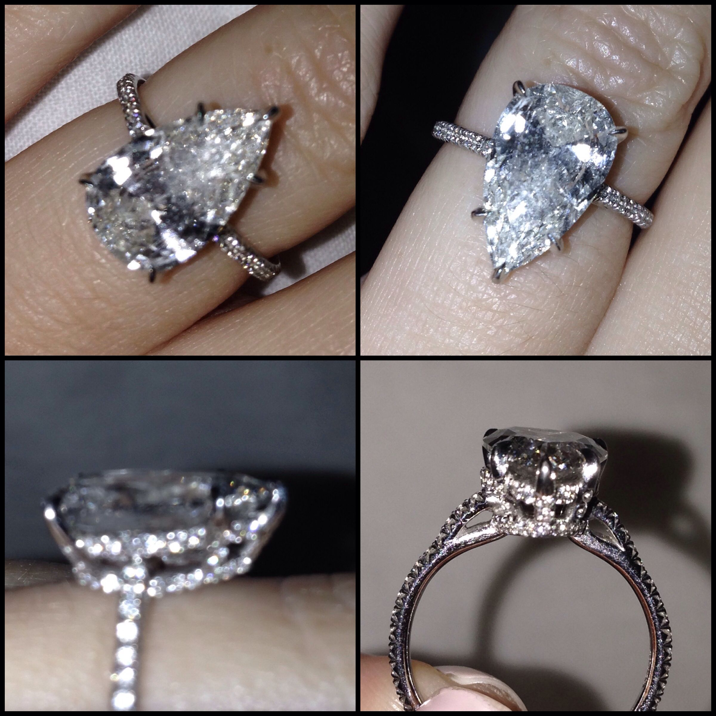 engagement band setting flame collections shape pear gold ring pave graff white by diamond with rings a shaped wedding