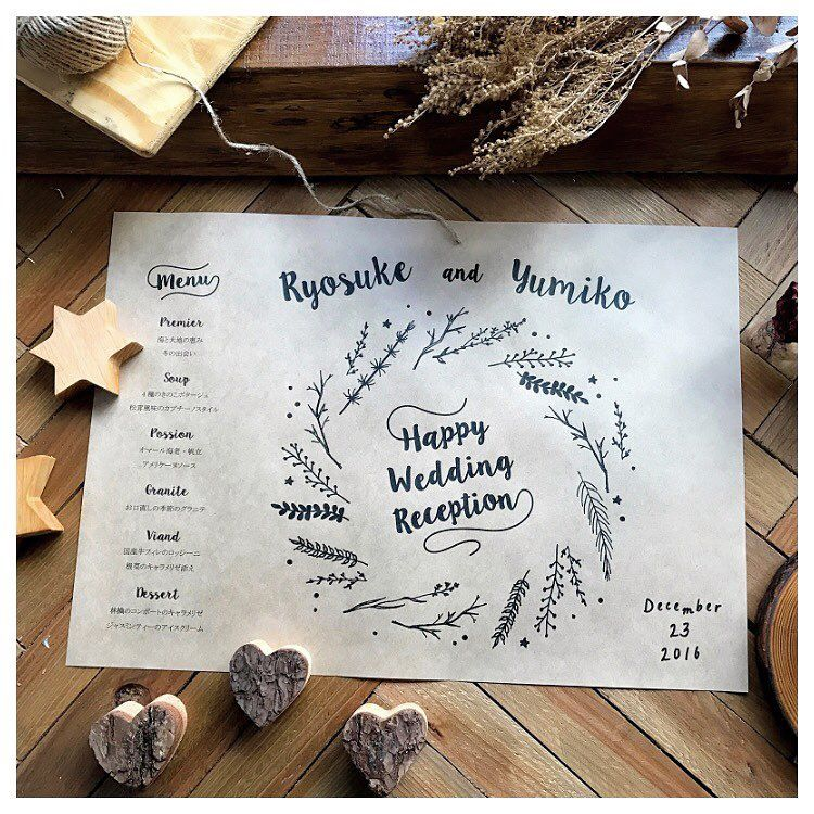 ランチョンマットを結婚式のメニュー表にするデザインまとめ marry
