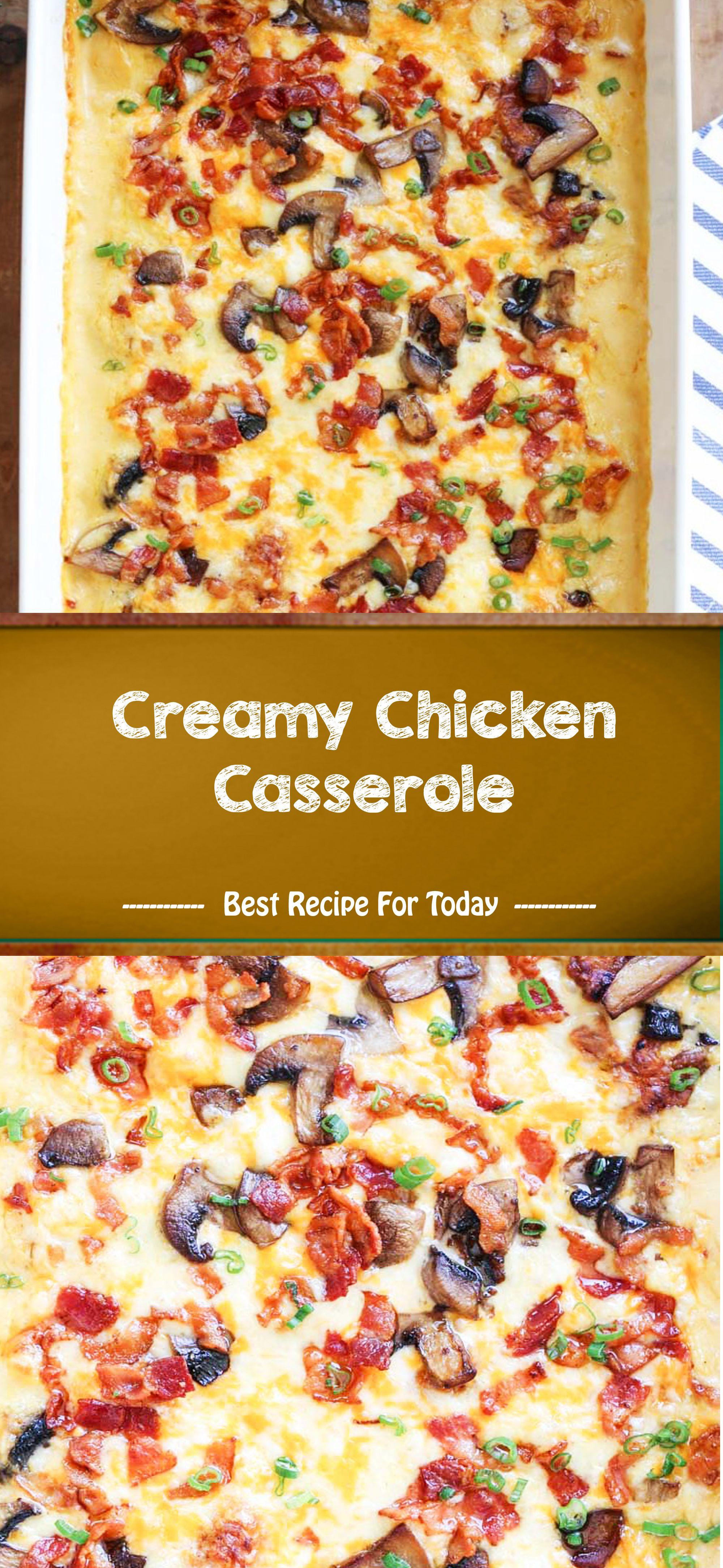 Creamy Chicken Casserole #creamychickencasserole