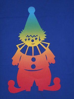 Fensterbilder Tonkarton Clown Harlekin Karneval Fasching Regenboge