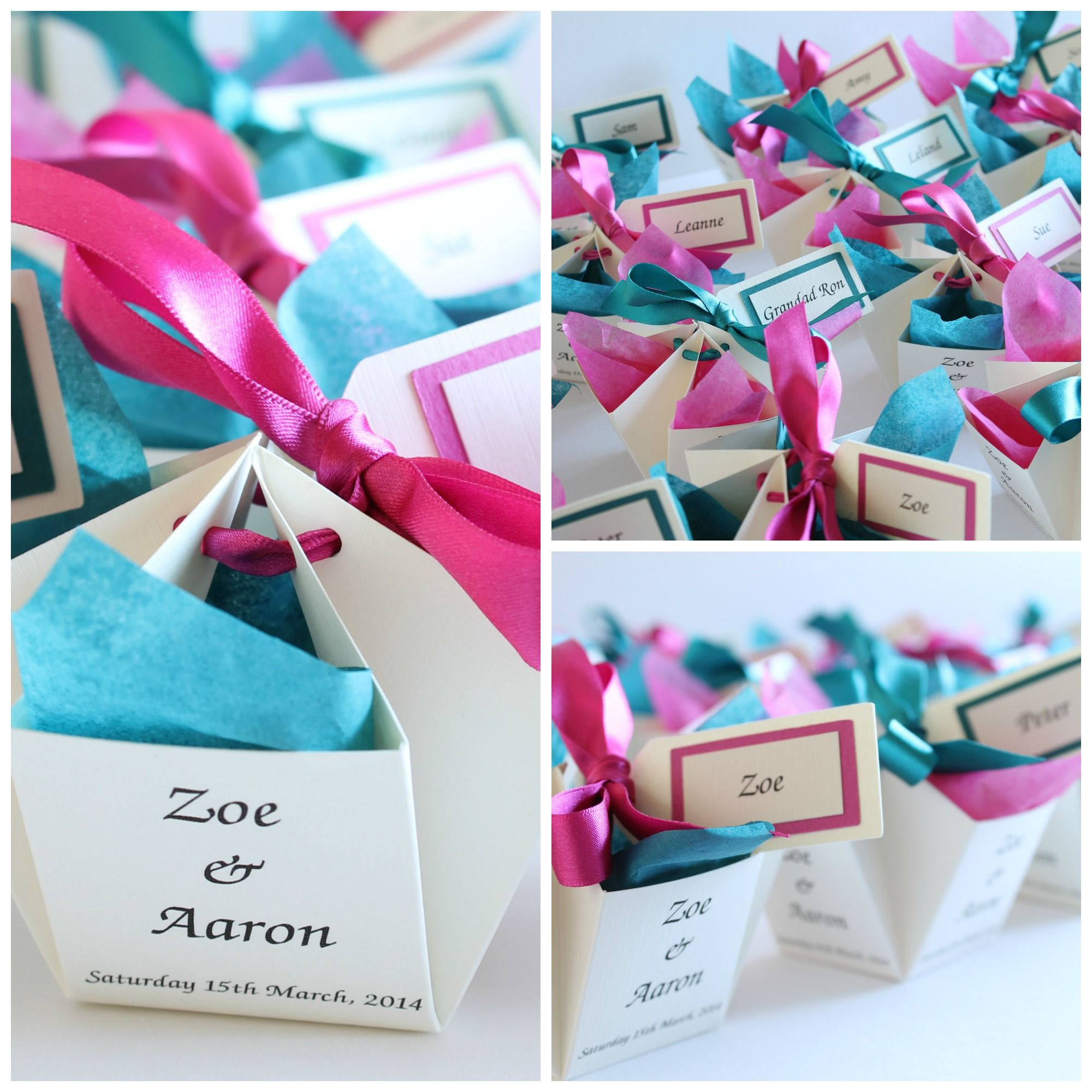 Cute Wedding Favors For Malibu Blue And Hot Pink