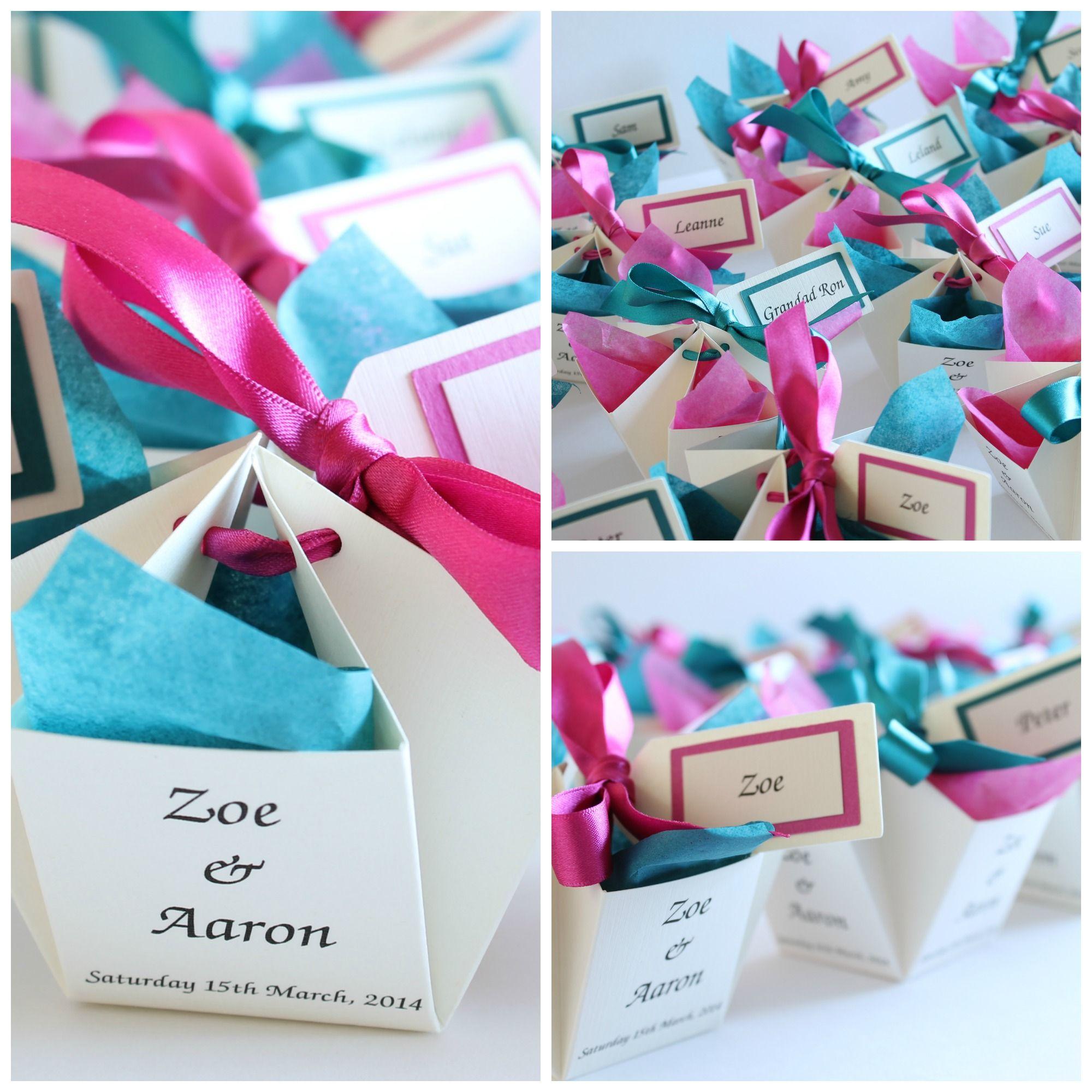 Blue And Pink Wedding Ideas: Cute Wedding Favors For Malibu Blue And Hot Pink Wedding