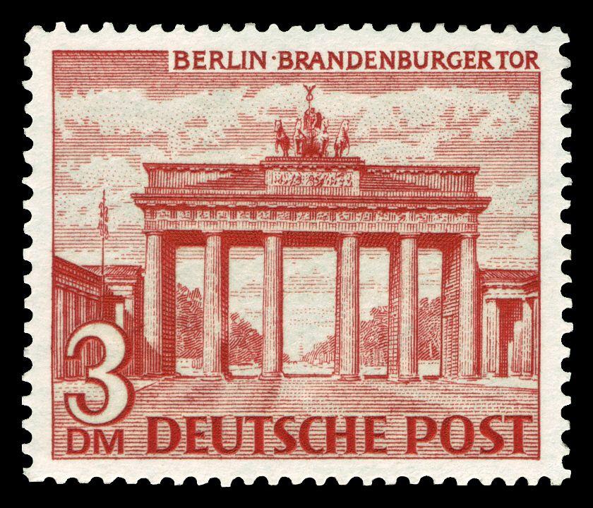 Deutsche Post 1949 Brandenburger Tor Briefmarken Deutsche Post Poster