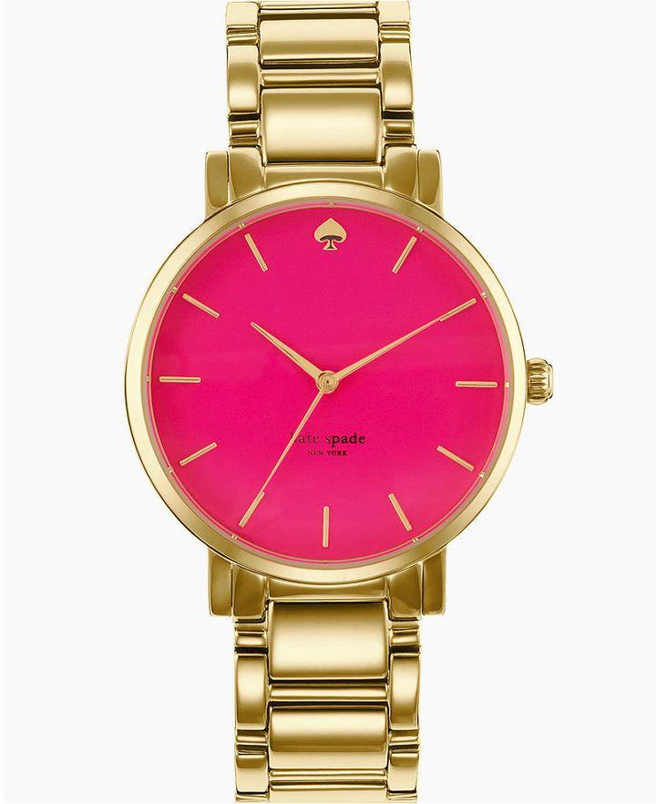Kate Spade Women S Gramercy Grand Gold Tone Bracelet Watch 38mm 1yru0217 On Style