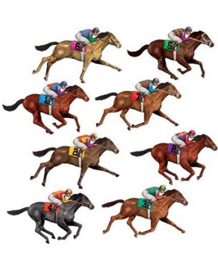 12 Cool Kentucky Derby Inspired Home Decor Ideas: Melbourne Cup Race Horse Cutouts