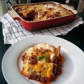 Tjockkockens Lasagne med ostcreme   Tjockkocken