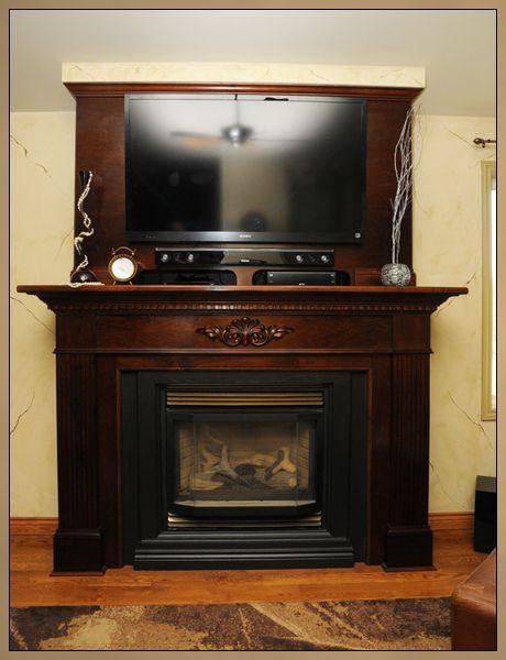 fireplace mantel designes   Custom Fireplace Mantel with ...