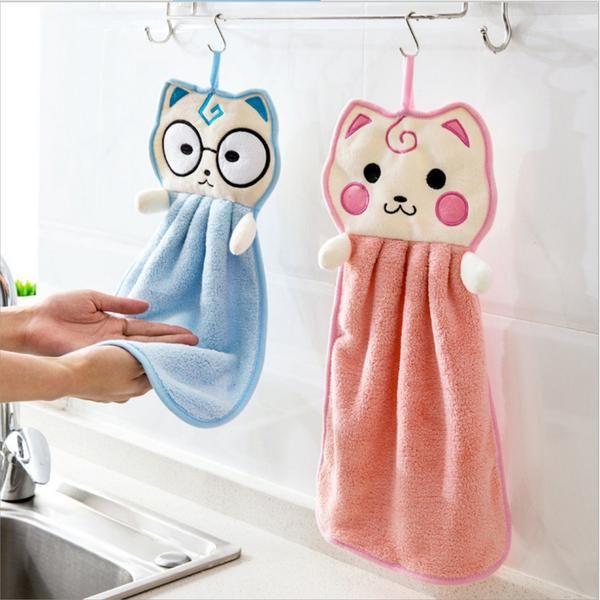 Cute Kittens Hanging Hand Towels #handtowels