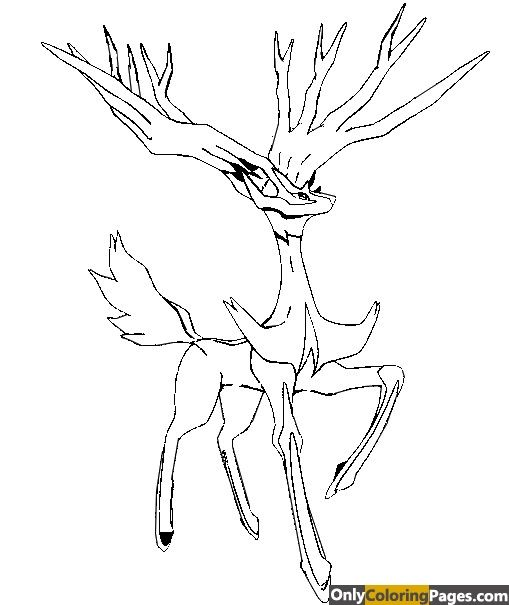 Xerneas Coloring Pages Coloring Pages Pokemon Coloring Pages To Print