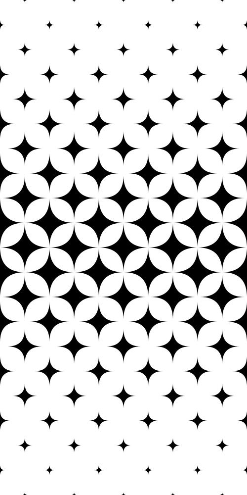 seamless curved star pattern design vector