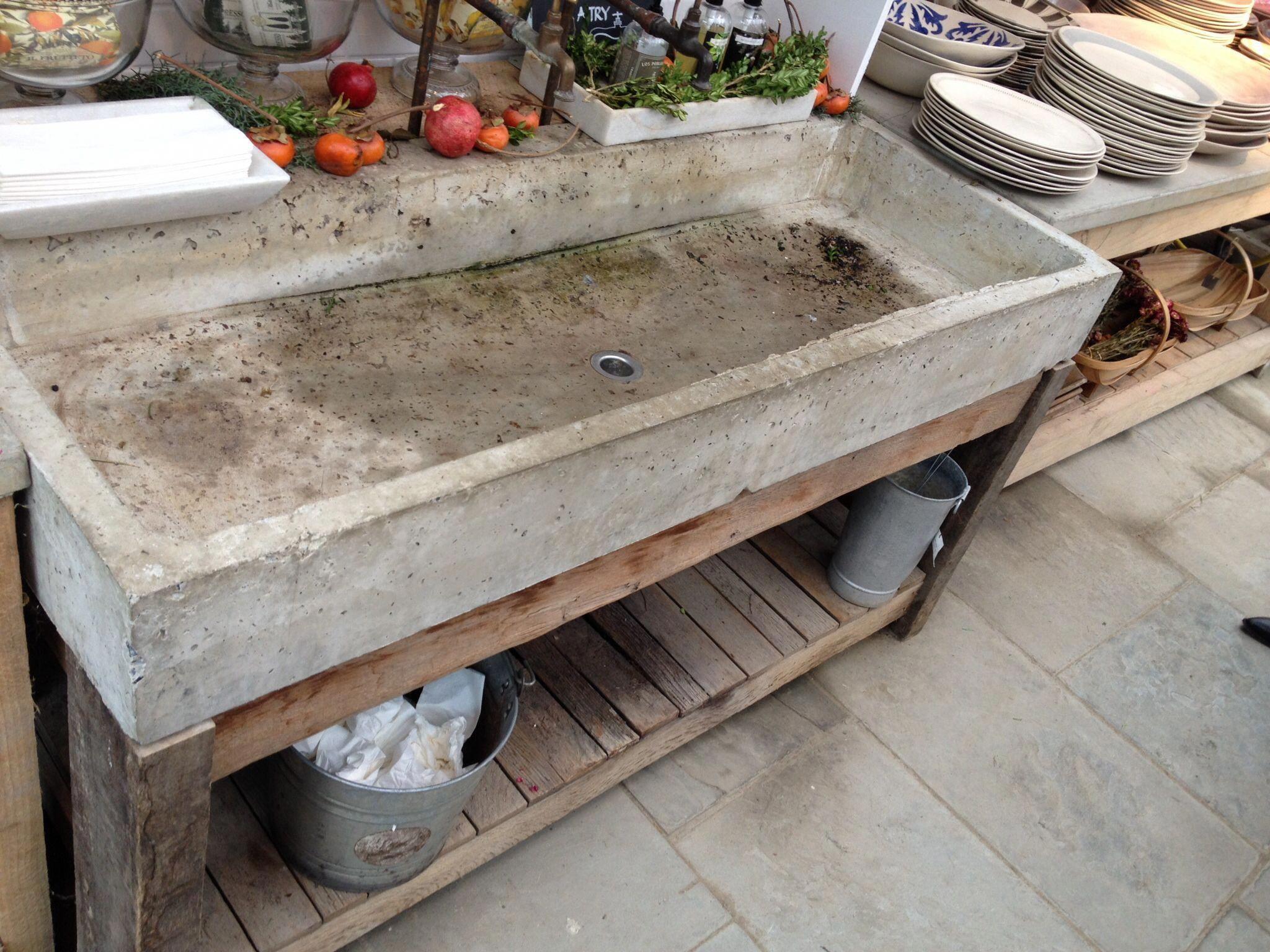 Concrete Sink Outdoorkitchenappliancestinyhouse Outdoor Kitchen Appliances Concrete Sink Rustic Kitchen