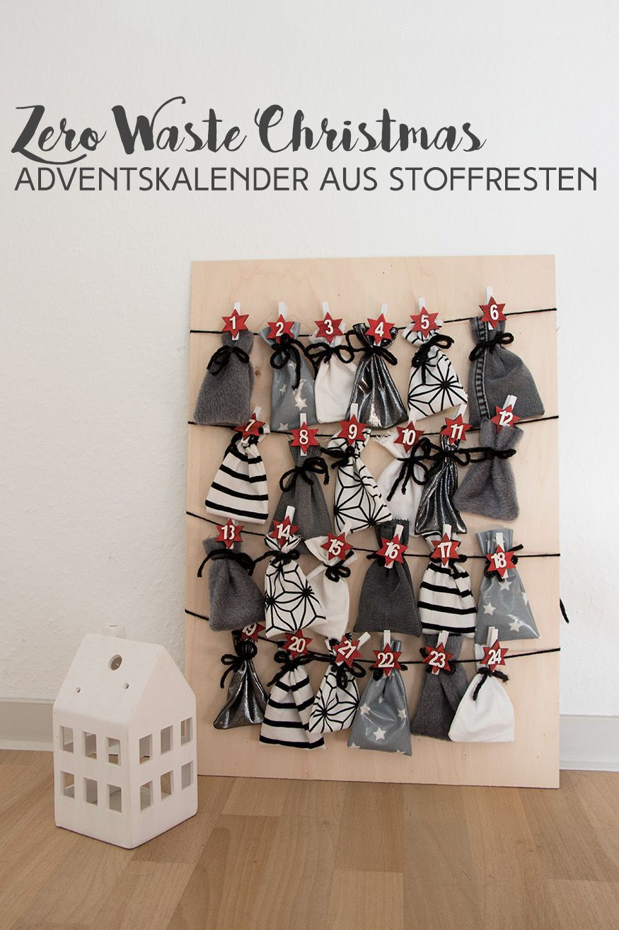 ZERO WASTE CHRISTMAS ADVENTSKALENDER AUS STOFFRESTEN ZERO WASTE CHRISTMAS ADVENTSKALENDER AUS STOFFRESTEN