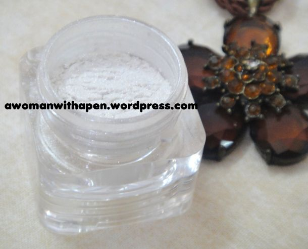 White with silver shimmer (In flash)  Faces Sparkle Dust Stackable : Sunbeam - A Review  http://wp.me/p2qgTm-1g