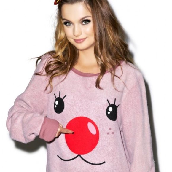 Wildfox Christmas Sweatshirt.Coming Soon Nwt Wildfox Christmas Rudy Sweatshirt Coming