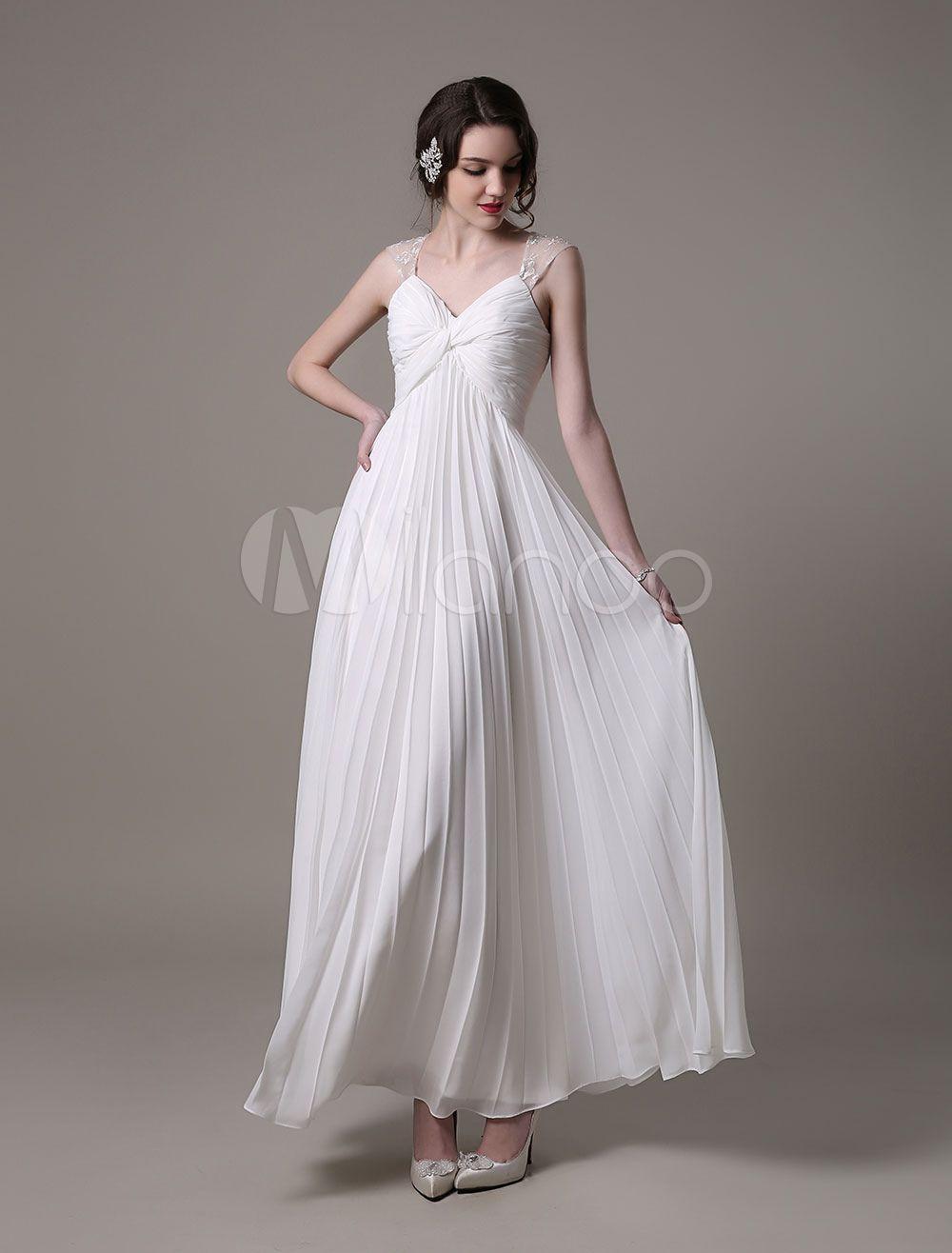 Strand-Mutterschaft Hochzeit Kleid Chiffon Kleid mit Plissee | Best ...