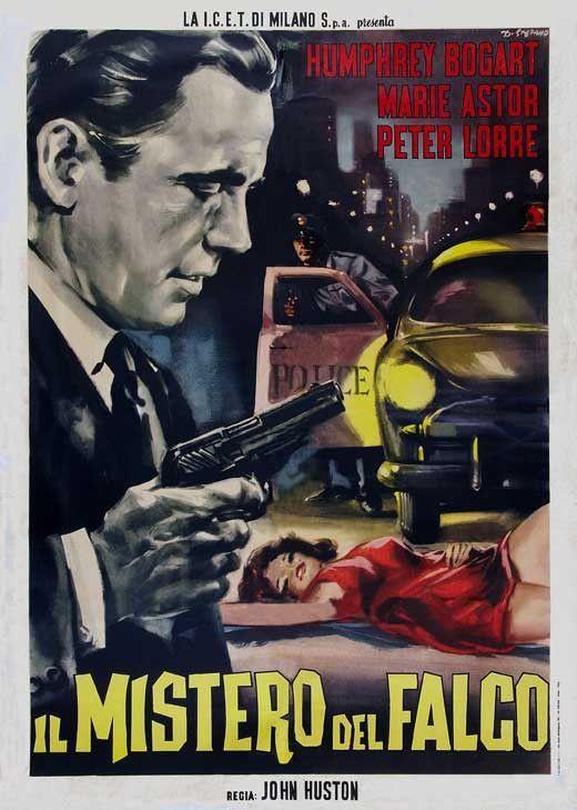 The Maltese Falcon Italian 27x40 Movie Poster 1941 Maltese