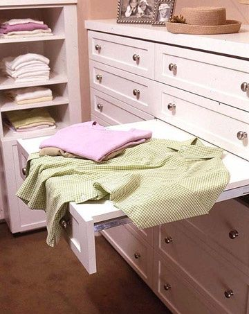 Folding Station When Your Closet Includes A Flat Surface For