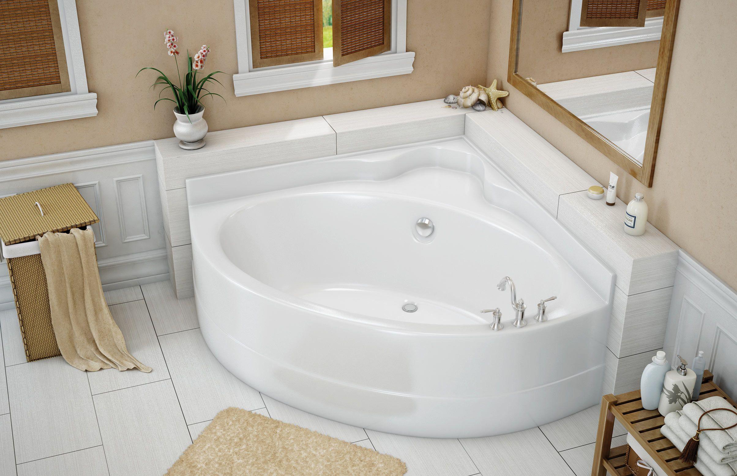 Vo5050 5 Ft Corner Bathtub Maax Professional Banos Pequenos Banera Para Bano Pequeno Diseno De Interiores De Bano