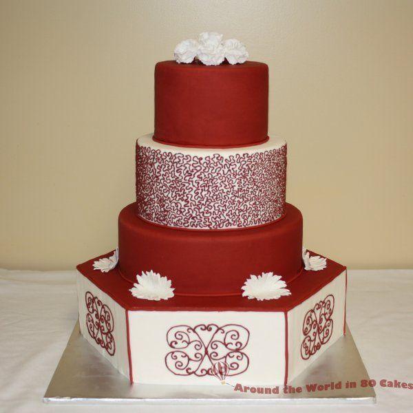 red wedding cake inspirations ideas