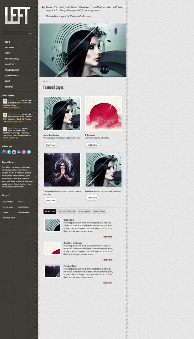 Left: #WordPress #Theme, #Blog, #Free, #Portfolio, #PSD, #Resource ...