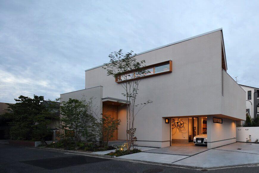 ガレージハウス 設計 安田憲二 テラスのあるガレージハウス 施工