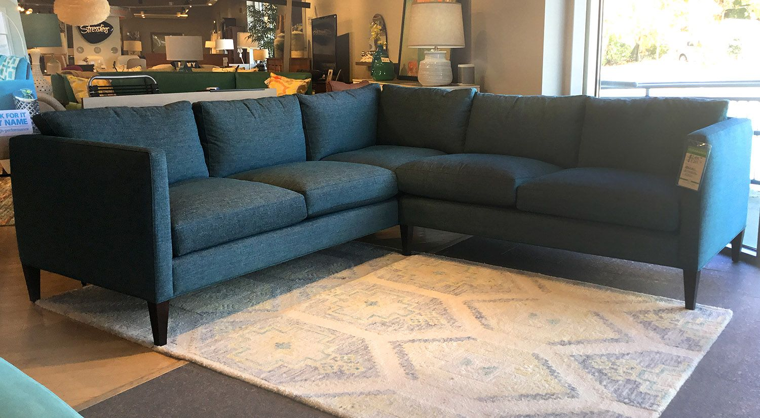 Circle furniture kendall sectional in cody pacific