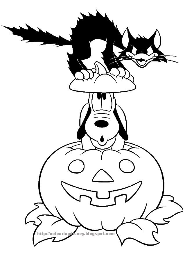 DISNEY COLORING PAGES HALLOWEEN PICTURES TO COLOR