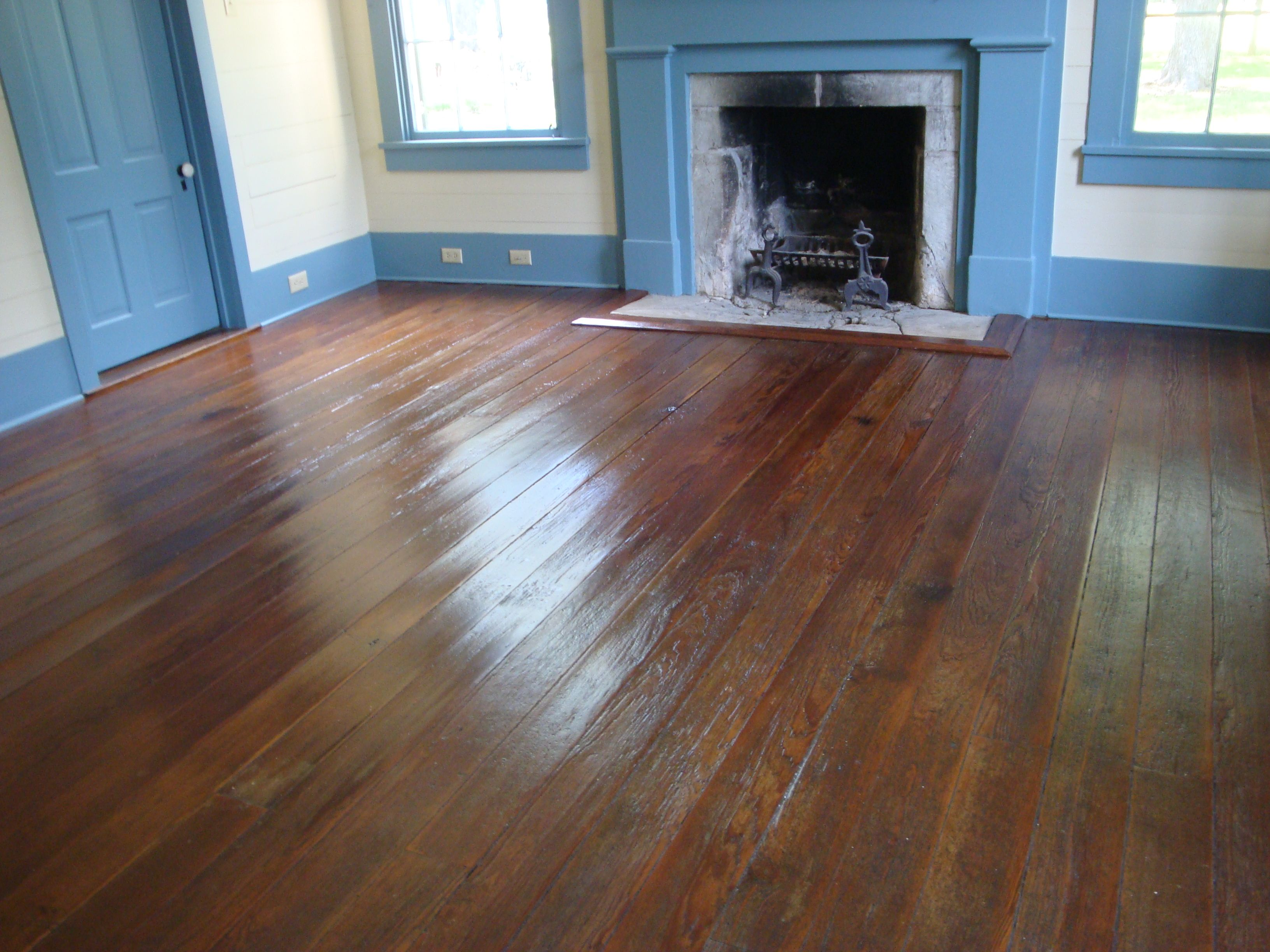Pine Floors Refinished Without Sanding